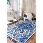 Justice Hand-Tufted Blue Area Rug Rug Size: Rectangle 8' 6