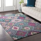 Andersonville Southwestern Blue/Pink Area Rug Rug Size: Rectangle 7'10