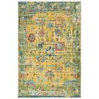Makenna Hand-Knotted Bright Yellow/Grass Green Area Rug Rug Size: Rectangle 6' x 9'
