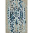 Corinne Hand-Tufted Teal/Navy Area Rug Rug Size: Rectangle 8' x 11'