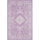 Baconton Hand Hooked Bright Purple/White Area Rug Rug Size: Rectangle 8' x 10'