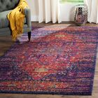 Elson Blue/Fuchsia Area Rug Rug Size: Rectangle 9' x 12'