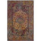 Florrie Teal/Rose Area Rug Rug Size: Square 7'