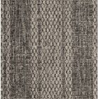 Myers Striped Gray/Black Indoor/Outdoor Area Rug Rug Size: Rectangle 5'3