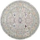 Lulu Tibetan Gray/Multi Area Rug Rug Size: Round 6'7