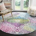 Shaddix Beige/Green/Purple Area Rug Rug Size: Rectangle 8' x 10'