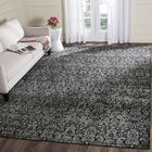 Vishnu Black / Light Gray Area Rug Rug Size: Rectangle 4' x 5'7