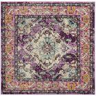 Annabel Violet/Light Blue Area Rug Rug Size: Square 5'