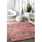 Hussain Hand Woven Cotton Magenta Area Rug Rug Size: Rectangle 7'6
