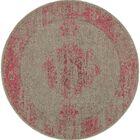 Raiden Gray/Pink Area Rug Rug Size: Round 7'8