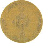 Raiden Yellow/Gray Area Rug Rug Size: Round 7'8
