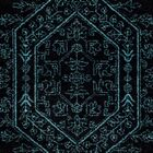 Connie Black/Teal Area Rug Rug Size: Square 6'
