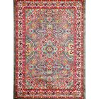 Thornton Gray/Red Area Rug Rug Size: 5' x 7'
