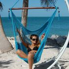 Travis Large Caribbean Polyester Chair Hammock Color: Light Blue