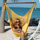 Travis Large Caribbean Polyester Chair Hammock Color: Yellow