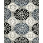 Kouerga Hand-Tufted Black/Gray Area Rug Rug Size: Rectangle 6' x 9'