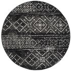 Norwell Black/Silver Area Rug Rug Size: Round 6'