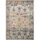 Harrington Ivory/Blue Area Rug Rug Size: Rectangle 9'6