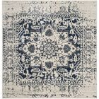Grieve Cream/Navy Area Rug Rug Size: Square 6'7