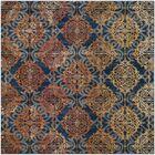 Ameesha Blue/Orange Area Rug Rug Size: Square 6'7