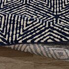Navy Area Rug Rug Size: Rectangle 6'7