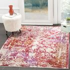 Justine Red/Beige Area Rug Rug Size: Rectangle 9' x 13'
