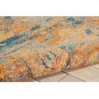 Shez Teal/Sun Indoor Area Rug Rug Size: 6'7