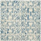 Greenmarket Hand-Tufted Dark Blue/Ivory Area Rug Rug Size: Square 5'
