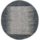Logan Geometric Hand-Woven Light Gray Area Rug Rug Size: Round 6'