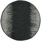 Logan Hand-Woven Light Grey/Black Area Rug Rug Size: Round 6'