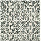 Greenmarket Hand-Tufted Charcoal/Ivory Area Rug Rug Size: Round 5'