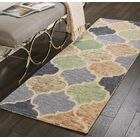 Beckman Hand Tufted Wool Blue/Ivory Area Rug Rug Size: Runner 2'3