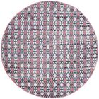 Saleem Hand-Woven Coral Area Rug Rug Size: Round 6'