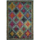 Chana Green/Pink Area Rug Rug Size: Rectangle 8' x 10'