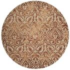Brennan Hand-Tufted Wool Copper Area Rug Rug Size: Round 7'