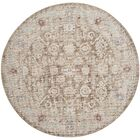 Jared Brown Area Rug Rug Size: Round 6'