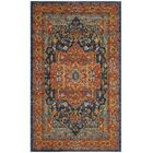 Battista Blue/Orange Area Rug Rug Size: Rectangle 4' x 6'