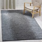 Logan Hand-Woven Light Grey/Grey Area Rug Rug Size: Rectangle 5' x 8'