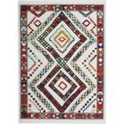 Carice White/Red Area Rug Rug Size: Rectangle 7'10