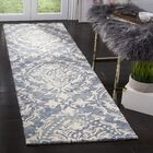 Jahiem Hand Tufted Wool Blue Area Rug Rug Size: Runner 2'3
