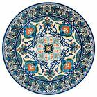 Kujawa Blue Area Rug Rug Size: Round 6'