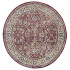Doucet Red/Gray Area Rug Rug Size: Round 6'7