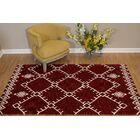Pisano Cherrystone Red/White Area Rug Rug Size: Rectangle 5'3
