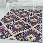 Dietz Purple/Yellow Area Rug Rug Size: Rectangle 12'6