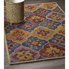 Deol Hand-Tufted Wool Navy Area Rug Rug Size: 5' x 7'9