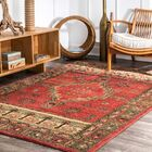 La Habra Red/Beige Area Rug Rug Size: Rectangle 4' x 6'