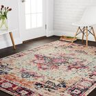 Lorenz Ivory/Red Area Rug Rug Size: Rectangle 4' x 5'7