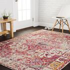 Lorenz Ivory/Pink Area Rug Rug Size: Rectangle 8' x 11'