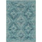 Hamza Hand-Woven Aqua/Teal Area Rug Rug Size: Rectangle 5' x 7'6