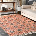Gaynell Hand-Knotted Orange Area Rug Rug Size: Rectangle 7'6